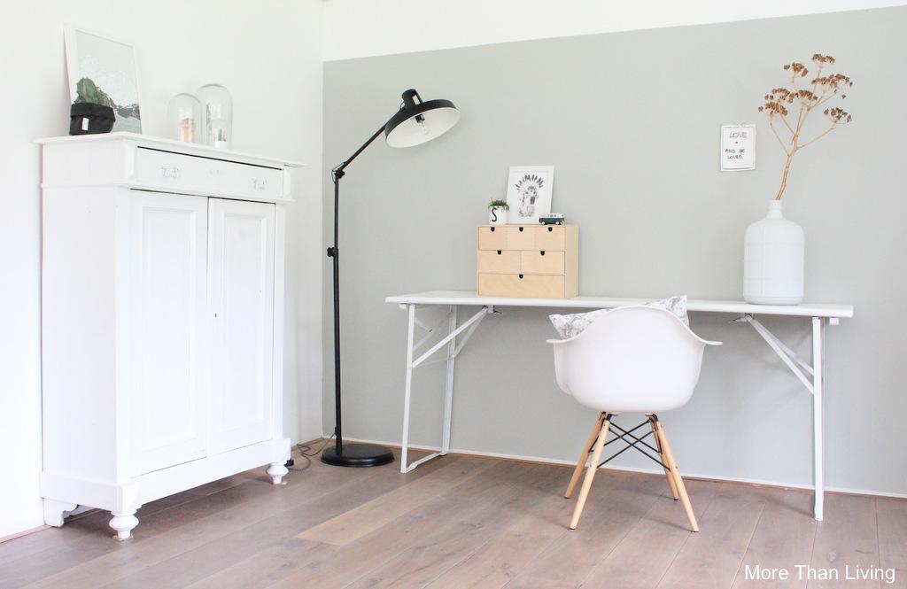 De woonkamer en mijn blog more than living - Verf grijs slaapkamer en blauw ...